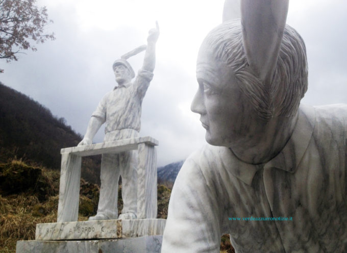 Schettino con le orecchie di coniglio, Polemiche sulle statue a Vagli di Sotto
