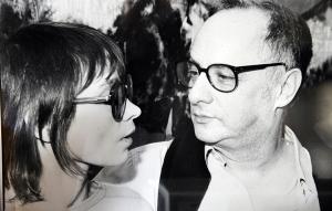 Peter Zadek e la compagna Elisabeth Plessen, attrice e scrittrice, negli anni Ottanta