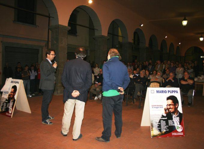 Bagno di folla per Mario Puppa: la Garfagnana si stringe attorno al suo candidato