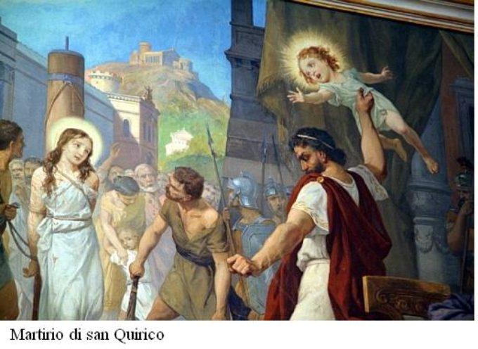 Il Santo del giorno,16 Giugno: S.Quirico, sua madre Giulitta e S.Ceccardo di Luni     ( e poi: Antonio, Domenico, Ferruccio, Gaspare, Ludgarda, Maria Teresa, Stefana, Tommaso)