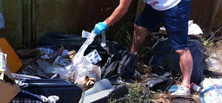 L'assessore Balduini e la polizia municipale scovano l'autore di abbandono di rifiuti in via Capocavallo a Badia Pozzeveri
