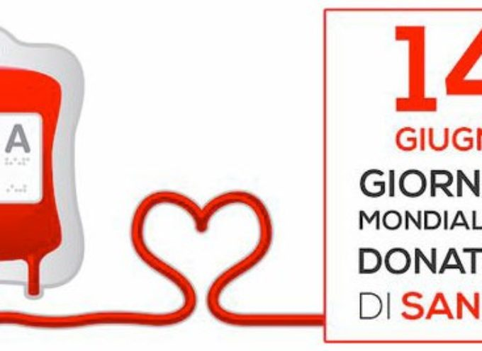 Domenica 14 giugno Centro trasfusionale aperto fino alle 11 per la giornata mondiale del donatore di sangue