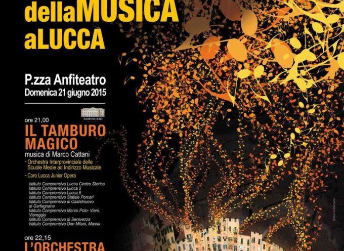 ATTESO RITORNO A LUCCA DELLA FESTA EUROPEA DELLA MUSICA