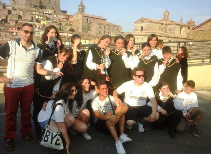 Sbandieratori e Musici di Gallicano in evidenza a Soriano nel Cimino