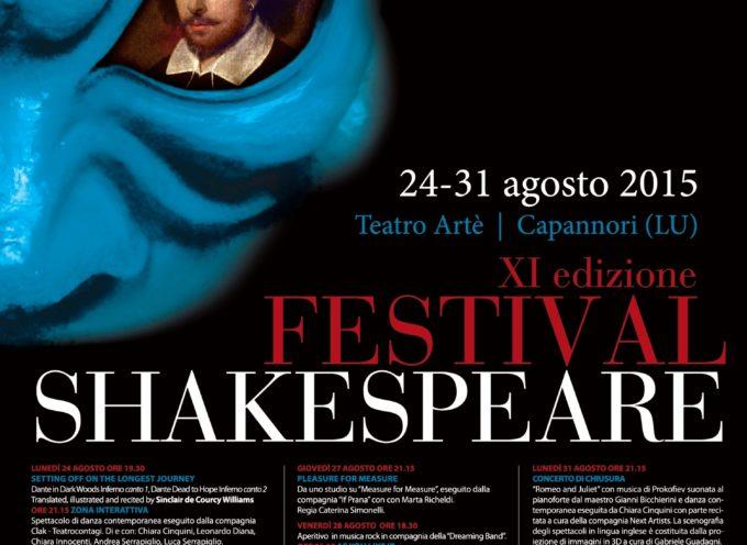 Festival Shakespeare: quattro spettacoli d'eccezione in due giorni