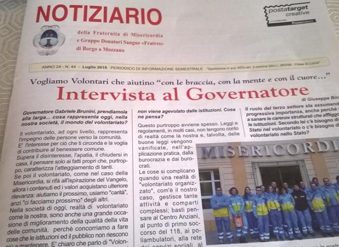 Distribuite quasi 4000 copie del notiziario annuale della Misericordia di Borgo a Mozzano