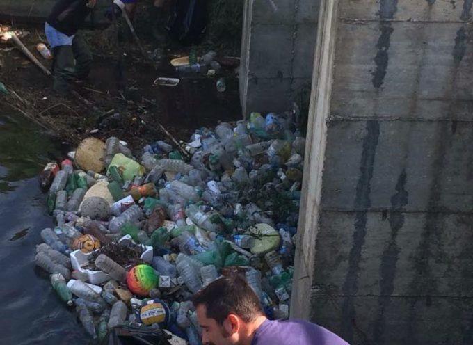 CasaPound ripulisce la cateratta del torrente Piscilla per evitare il rischio esondazioni