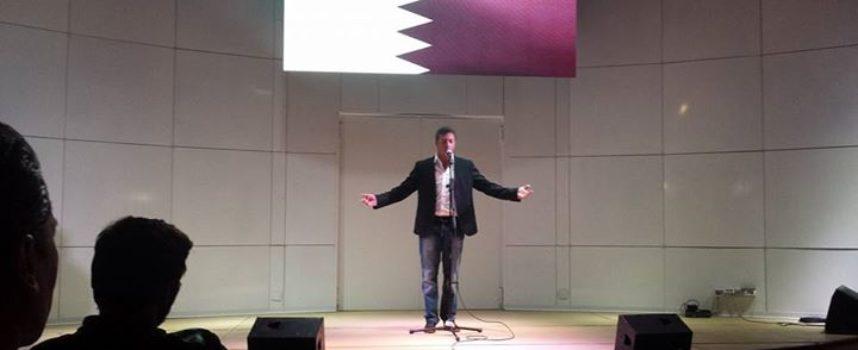 Marco Pierucci si esibisce all'Expo di Milano: grande successo nel padiglione Qatar