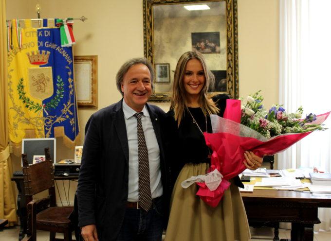 Il sindaco Tagliasacchi incontra Ginevra Bertolani
