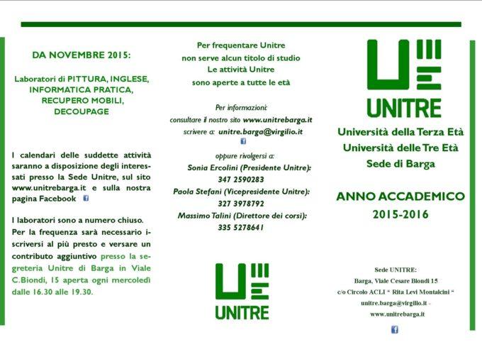 Unitre Barga presenta il calendario di conferenze