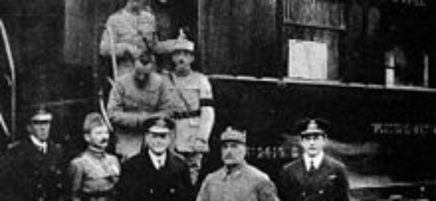accadde oggi – 11 Novembre 1918, si firma l'Armistizio a Compiegne