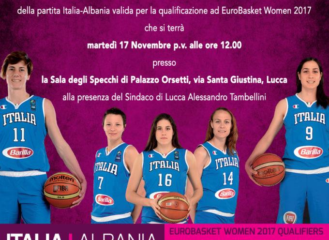Italia- Albania di Basket al Palatagliate con le biancorosse Crippa e Dotto