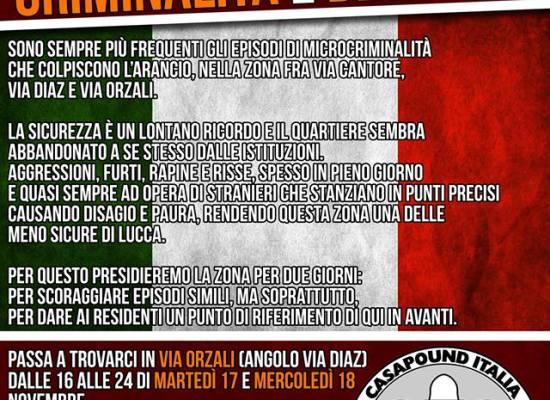 Sicurezza nel quartiere Arancio di Lucca