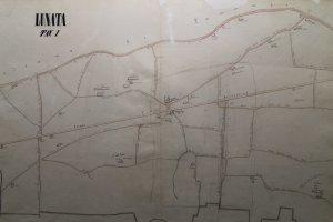 mappa stradale lunata 1800