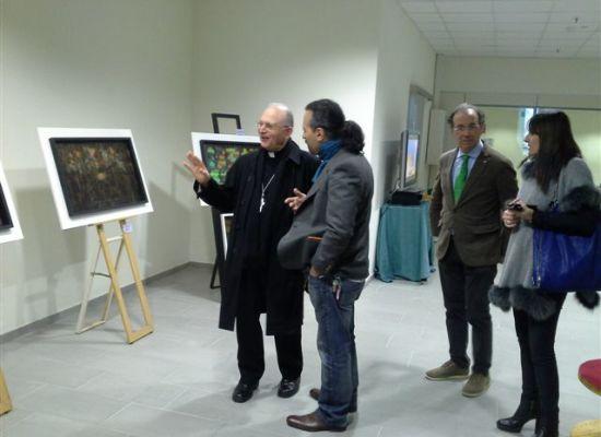 """Si è chiusa ieri (12 dicembre) all'ospedale San Luca di Lucca  la mostra """"Arcana verba"""" di Giuseppe Aldi"""