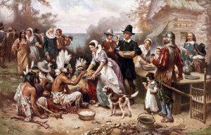 26 dic thanksgiving-giorno-del-ringraziamento-padri-pellegrini-e-nativi-americani