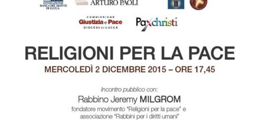 Religioni per la pace: incontro con il Rabbino Jeremy Milgrom