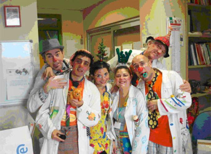 I clown dottori all'ospedale di Barga oggi