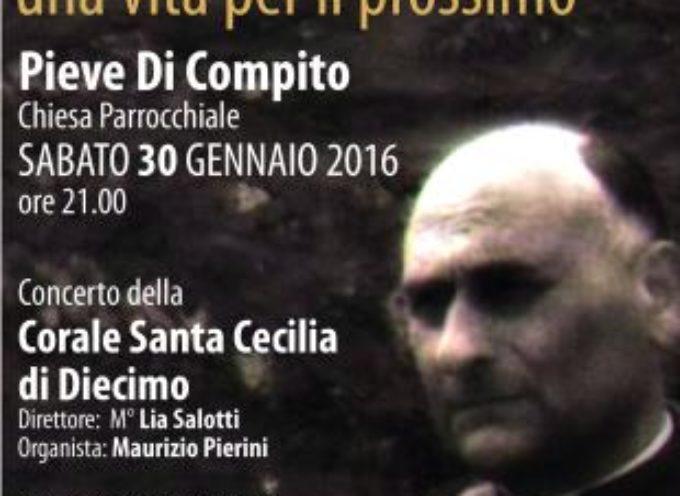 """""""IO NON SONO UN NUMERO"""": SABATO 30 GENNAIO A PIEVE DI COMPITO per ricordare DON NELLO MARCUCCI"""