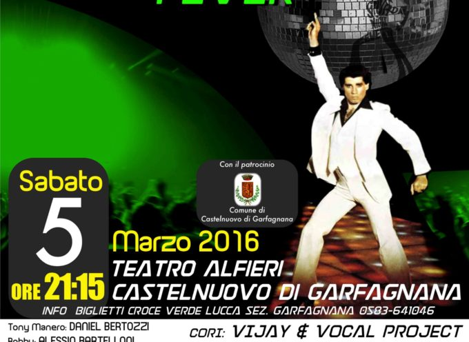 "Alfieri a Castelnuovo SPETTACOLO DI BENEFICENZA ""Saturday Night Fever"""
