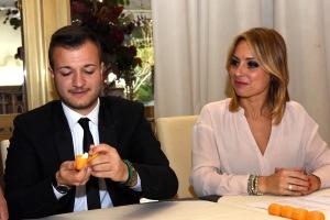 Mattia Di Vivona e Federica Michetti durante il sorteggio (ph.Iacopo Giannini Studio)