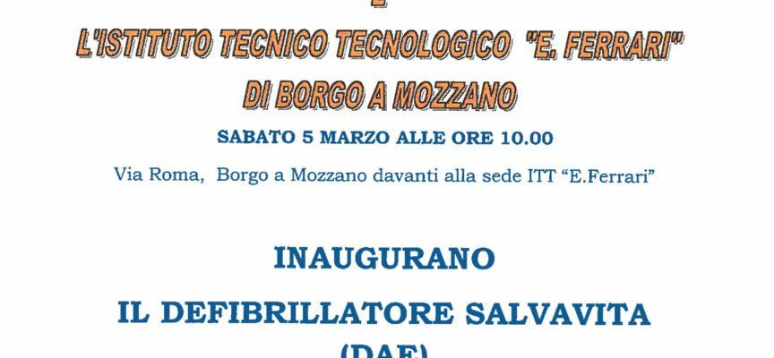 VIENE DONATO un defibrillatore a Borgo a Mozzano, SABATO 5 MARZO