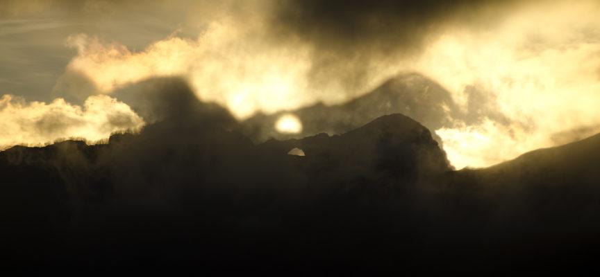Il doppio tramonto nel Forato