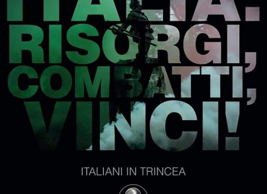 CasaPound presenta il suo libro sugli italiani in trincea nella Prima Guerra Mondiale.