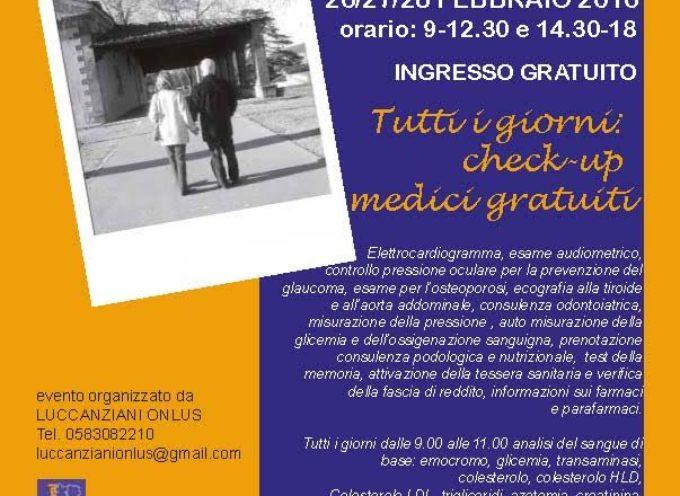 Ritorna LuccAnziani: check – up medici gratuiti dal 26 al 28 febbraio