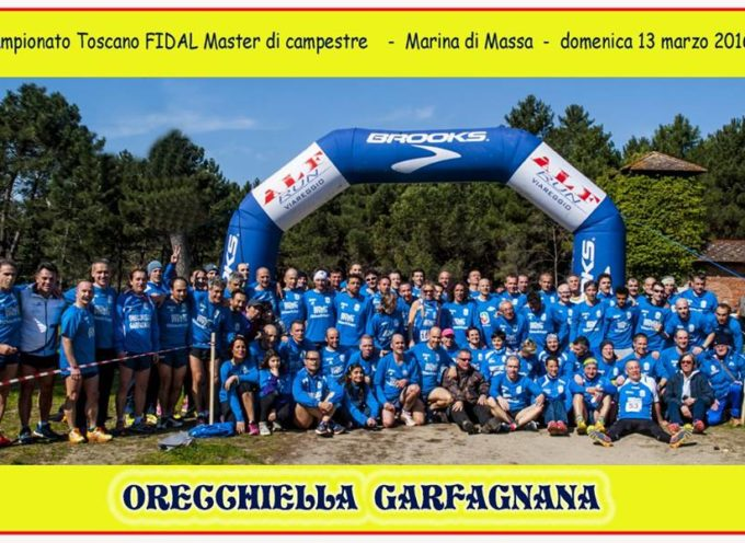 Allori e medaglie per il GS Orecchiella ai Regionali Master di Corsa Campestre