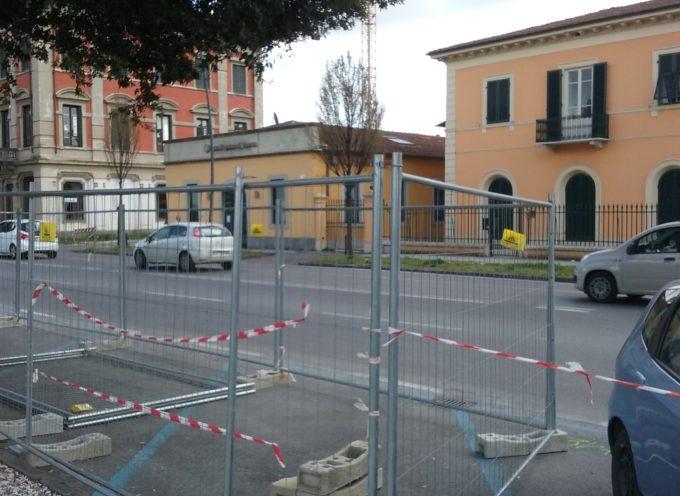 lucca, allestiti i tre cantieri sulla pista ciclabile  fuori Porta Elisa