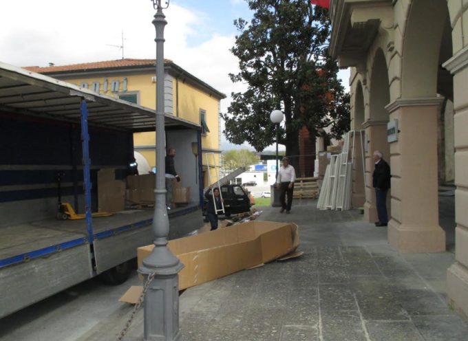Arrivati gli arredi per completare la nuova biblioteca a Altopascio.
