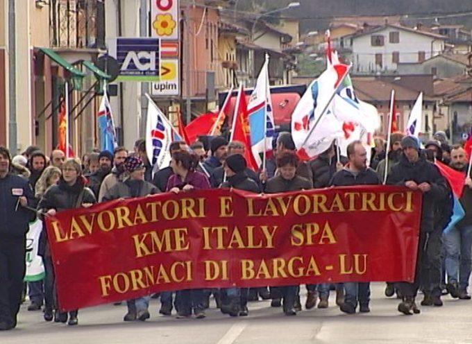 Lunedì 2 ore di sciopero a Fornaci a Barga: Presidio dei  lavoratori di Lime Italy Spa