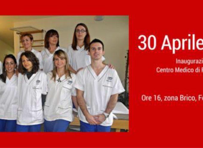 Sabato prossimo 30 Aprile Inaugurazione del Centro Medico Fisioterapia nei pressi del Brico Io a Fornaci di Barga