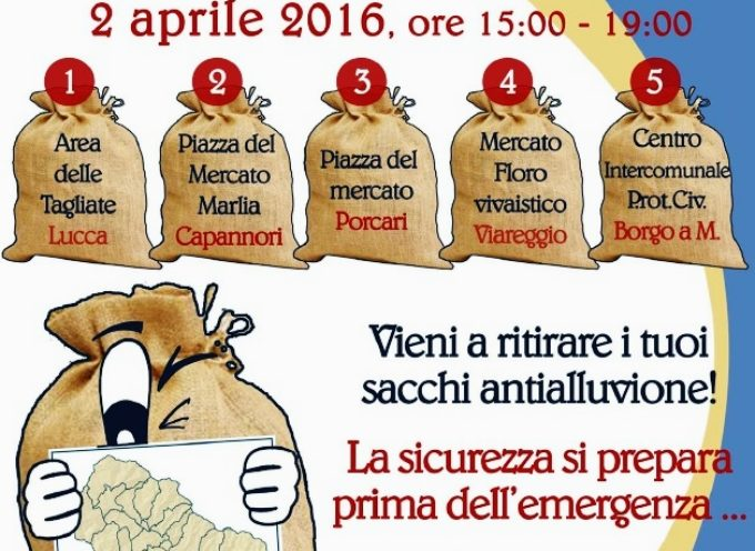 """MARLIA PROTEZIONE CIVILE: DOMANI 2 APRILE """"UN SACCO DI PREVENZIONE"""""""