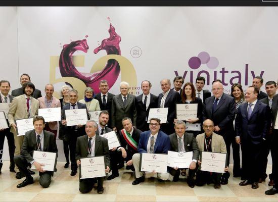 foto premiazione Podere Concori a Vinitaly