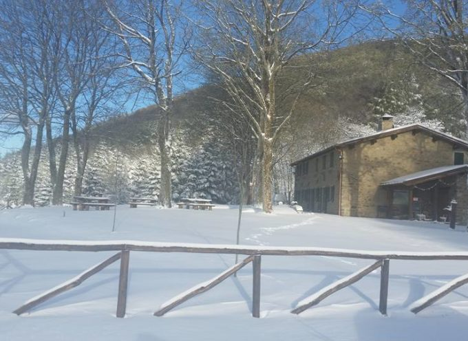 Garfagnana, neve a sorpresa oltre i mille metri