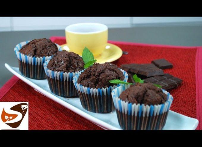 Muffin al cioccolato : ricetta facile e veloce – dolci facili (chocolate cupcake)  [video]