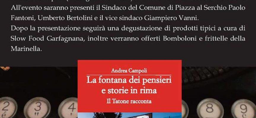 PRESENTAZIONE DEL LIBRO, LA FONTANA DEI PENSIERI IN RIME,  DI ANDREA CAMPOLI