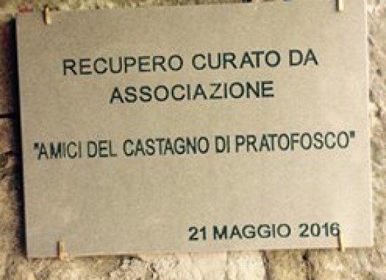 oggi inaugurazione del restauro Maestà del Volpiglione, sotto San Pellegrino in Alpe,