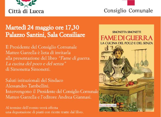 """Palazzo Santini: presentazione del libro """"Fame di Guerra"""""""