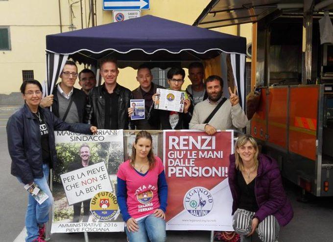 """""""Un futuro per Pieve Fosciana"""" in piazza tra la gente. Gazebo al mercato"""