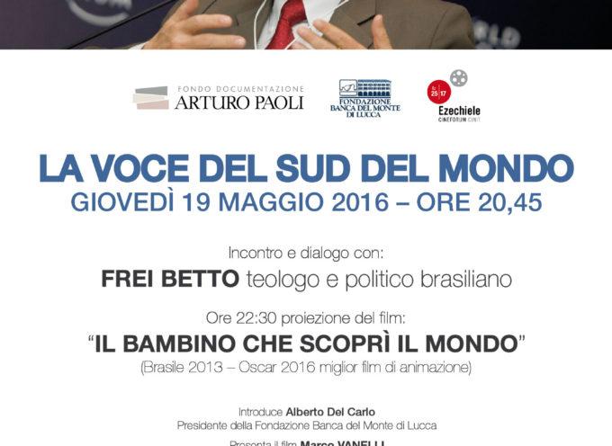 Frei Betto, teologo, scrittore e politico brasiliano,  a Lucca
