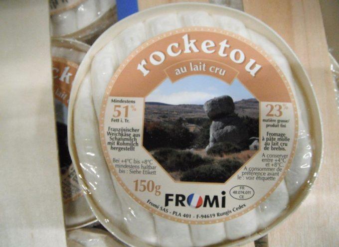 Allerta prodotti: ritirati i formaggi Rocketou e Pérail.