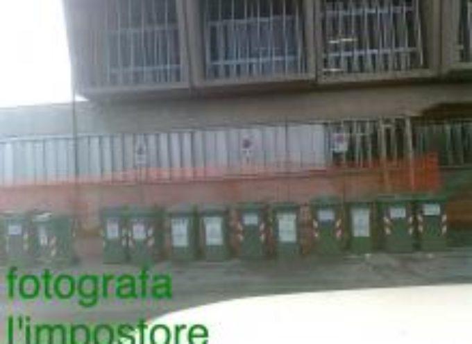 LUCCA – All'Itis Fermi i bidoni dei rifiuti al posto degli stalli per disabili