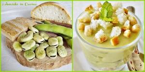 bicchierini di fave e baccelli con crostini di pane raffermo e croste di parmigiano reggiano 3