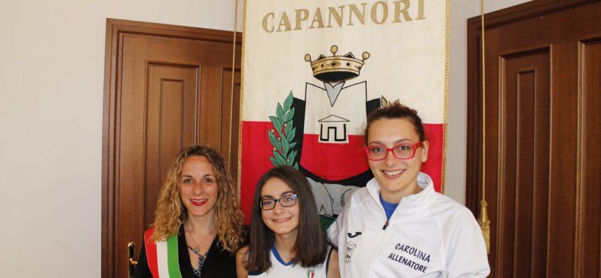 capannori  – JASMIN VEZZANI, PROMESSA DEL PATTINAGGIO,  RICEVUTA IN COMUNE..