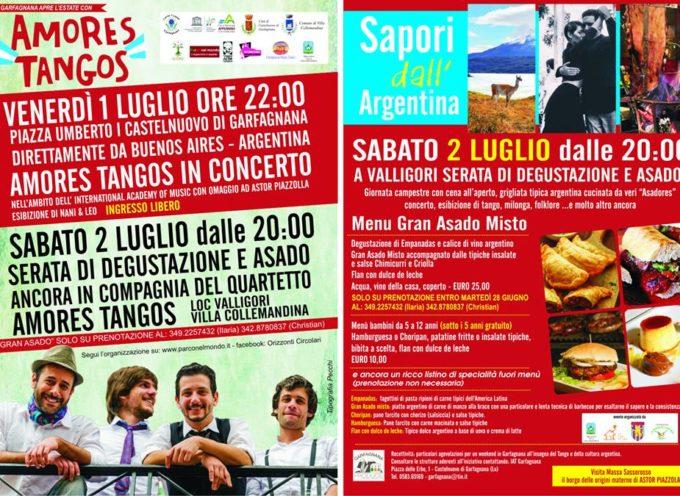 Direttamente da Buenos Aires…Amores Tangos La Garfagnana apre l'estate con musica e sapori dall'Argentina