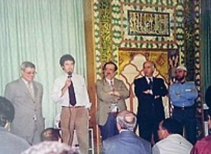 Matteo Salvini in moschea al centro islamico di Milano