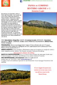3 lugio Pania di Corfino sentiero Airone 1 Apuantrek